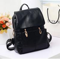 2014 fashion female  girl college fashion pu students new backpack leisure