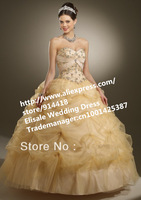Free Fast Shipping Quality Sweetheart Lace-up Quinceanera Dress Beading Sweet Sixteen Dresses Taffeta Organza Quinceanera Dress
