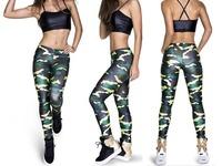 Army Camouflage BRAZILIAN SOLDIER Printed Leggins 2014 Punk Women Legging Fitness Bottom Sports Leggings S16-19