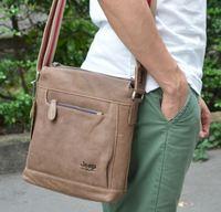 2015 NEW Vintage fashion men messenger bags genuine leather shoulder bag 100% real leather guarantee men bags handbag