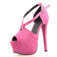 Hot Selling Women Pumps Platform Peep toe Heels 11cm Cross Strap Women Shoes Fashion High Quality Sexy High Heels