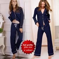 high quality VS 100% Cotton Autumn casual homewear, pijama women, pajamas for women,Sleepwear, Pajama Sets plus size