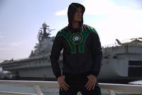 Free shipping Green Lantern coat Autumn male cardigan double hoodies sport  men jacket Hero chandal hombre Christmas gift