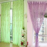 Willow Tulle Door Window Curtain Drape Panel Sheer Scarf Valances Feitong
