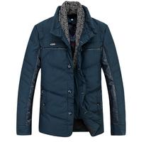 2014 Mens winter jackets and coats down parka men casual fur collar jackets warm men's slim thick coat  parka de los hombres