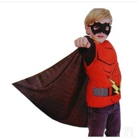 Free shipping The Flash suit party costume and accessories set Children Clothing Masquerade costume Kids Cosplay Christmas gift
