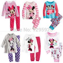 Gift Min Mic key Top Leggings Baby Kids Girls Nightwear Pj's Sleepwear 1-8Y(China (Mainland))