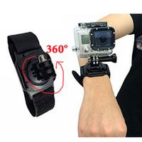 360 Degree Rotating Wrist Strap With Mount Wrist Straps + Screw For Gopro Hero 3 2 1 Sports Cameras DHL Fedex Free