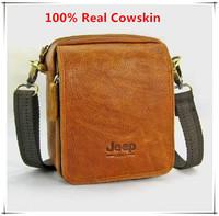 Vintage Famous Brand Natural Cowskin men bags genuine leather shoulder bag mini men messenger bags