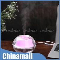 Amazing Aromatherapy USB Air Humidifier Crystal Small Nightlight Air Atomizer Free Express10pcs/lot