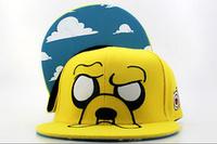 2014 New Style! Free Shipping! Adventure Time Adventure Big Face Snapback Hat,  Adventure Time Kickin It Snapback Cap, Cute