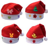 Free shipping HR019 Christmas cap christmas hat christmas applique cartoon cap