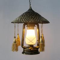 Outdoor Lighting Retro Nostalgia Restaurant And Cafe Lounge Creative Wrought Iron Lantern Chandelier Hats