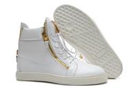 GZ origianl punk genuine leather height increasing Stone grain Double zipper men and women lovers sneakers,EUR35-45,brand shoes