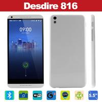 "New Perfect 1:1 3G Desdire 816 Phone 5.5"" 1280x720 MTK6582 Quad Core 1GB RAM 8G ROM For Original HTC Desdire 816 Mobile Phone"