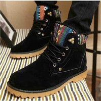 2014 new cotton-padded shoes for men and women couple low tube snow boots warm winter boots female boots warm shoes for men