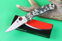CPM-S30V Blade Camo G10 Handles Spyderco C81 Para Military Rescure Folding Knife