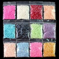 12 Colors Nail Art 12000 PCS Pearl Rhinestones 3.0mm Decoration For Acrylic Tips