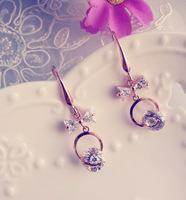 Bride quality rose gold zirconium rhinestone earrings drop earring wedding accessories fashion accessories