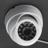 """1/3"""" 3.6mm Optional Lens Black CMOS 700TVL CCTV 24 IR Leds Indoor Dome Camera Wide Angle Lens Security Camera white color"""