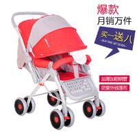 Buggiest car umbrella light two-way baby stroller four wheel baby stroller trolley baby stroller