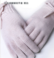 2014 New Design Cashmere/wool Ladies Christmas Gift Gloves GWC011 Free shipping