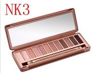 wholesale Professional 12 color NK 3 Professional eye shadow powder eyeshadow NK3 Makeup beauty Palette 100pcs/lot free shipping
