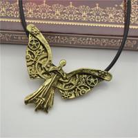 Wholesael 20PCS/LOT Antique Bronze Movie City Of Bones Pendant Necklace Cheap