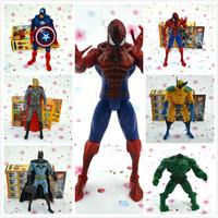 Hot Avengers toy Figures 6 PCS SET Marvel Action Figures Hulk+Captain+Wolverine+Batman+Spiderman+Thor  Best Children's  Gifts