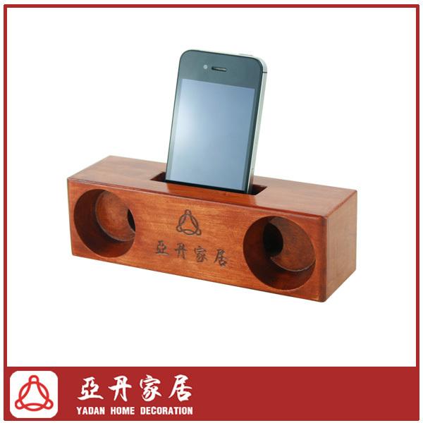 wooden mobile phone cell phone speaker loudspeaker(China (Mainland))
