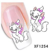 Fashion 1 Sheets 3D Design cute DIY cartoon colorful diamonds Tip Nail Art Nail Sticker Nails Decal  Manicure nail tools XF1254