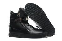 GZ origianl punk genuine leather height increasing black nubuck Golden plate men and women lovers sneakers,EUR35-46,brand shoes