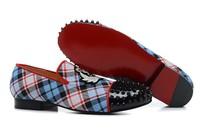 CL origianl punk genuine leather flat bottom rivet han edition tide men and women lovers sneakers,EUR35-45,brand shoes