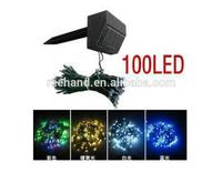 5pcs 100 LED Solar panel Garden waterproof Christmas Party String Light Fairy Decoration Lamp