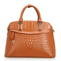 Genuine leather handbags new fashion womens crocodile pattern embossing ladies big bags messenger bag