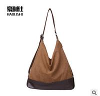 HOT! 2014 bag for woman fashion big canvas shoulder bags lady casual handbag 5 colors