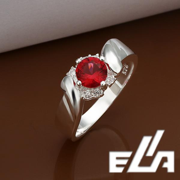 925 Silver Ring With Austrian Crystals ruby Cubic Zirconia diamond rings Health Jewelry woman