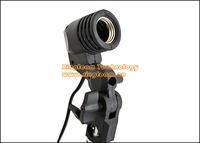 Wholesale 5Pcs/Lot Photo Slave Flash Swivel Adapter E27 Socket Bulb Holder Lamp Base Umbrella Bracket