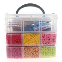 1set/lot 3 Layers Perler/hama Beads Funny Children Educational Toys Perler Beads Jigsaw puzzle Templates With Clear box HO673177