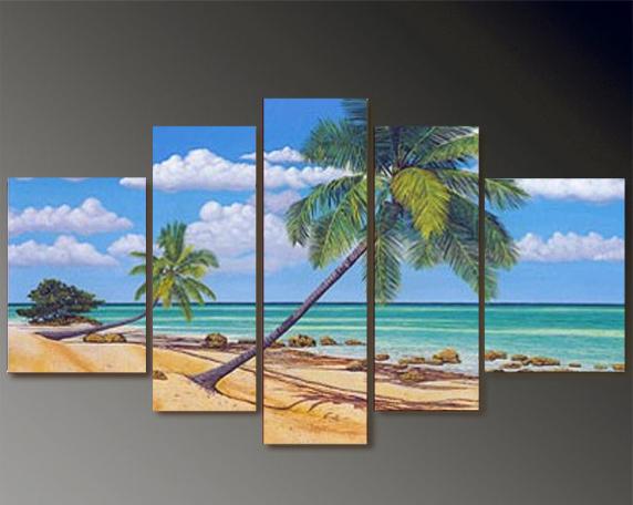 wohnzimmer palme kaufen:Online Kaufen Großhandel acrylic beach painting aus China acrylic