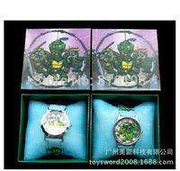 Free Shipping 10pcs 3D Cartoon Teenage Mutant Ninja Turtles Wristwatch Kids Lovely Fashion Watches Children Watch With Gift Box