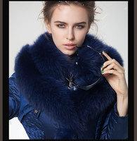 2014 Slim Down Coat Medium-Long Women'S Star Style Luxury Fox Fur