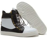 GZ origianl punk genuine leather Side zipper tide shoes leisure lizards men and women lovers sneakers,EUR35-45,brand shoes