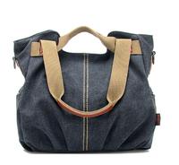 Retail 2014 bag for woman fashion big canvas shoulder bags lady casual handbag free shipping