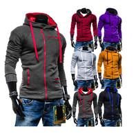 2014  Hot sale casual men's  zipper hoodie  jackets  coat  M- XXL