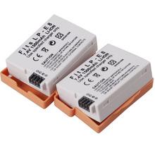 2Pcs/Lot 1500mAh LPE8 LP-E8 LP E8 Battery for Canon Cameras  Rechargeable batteies EOS 550D 600D 650D 700D