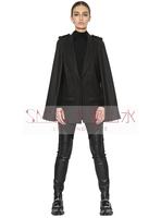 Women Cloak Casual Blazers Full Sleeve Black Cool Cotton Suit Jacket 2014 Hot Sale Fashion Autumn Winter Outerwear Free Shipping