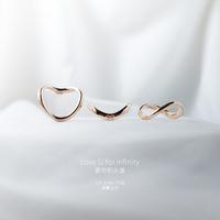 925 silver infinity heart pendant ,valentine's gift,wedding ring,silver infinity ring, free shipping