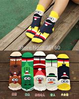 The new cotton Christmas series Frozen series Korea cartoon Ms. socks Winter 1234520461 201411HL