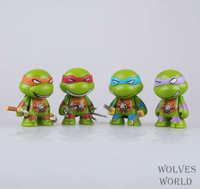 Teenage Mutant Ninja Turtles 4 pcs set cute figure toy doll birthday gift
